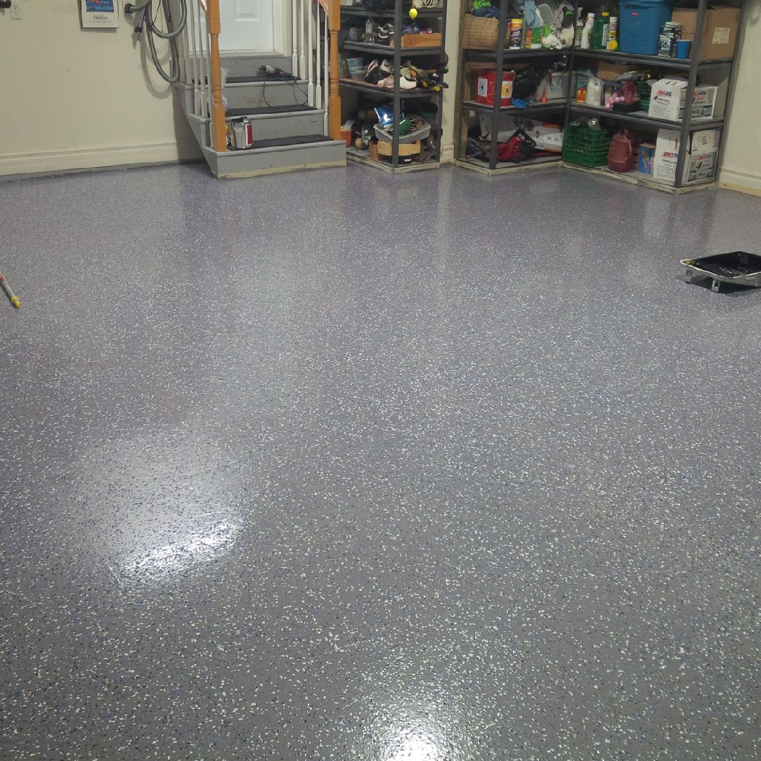 Speckled Garage Floor Painting